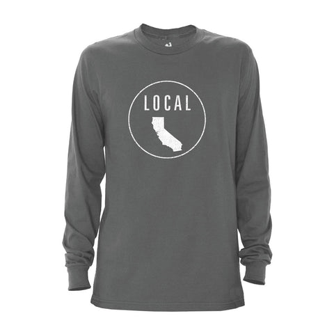 Locally Grown Clothing Co. Men's California Local Long Sleeve Crew