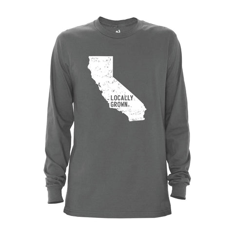 Locally Grown Clothing Co. Men's California Solid State Long Sleeve Crew