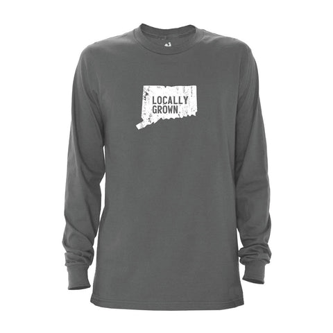 Locally Grown Clothing Co. Men's Connecticut Solid State Long Sleeve Crew