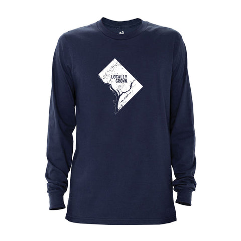 Locally Grown Clothing Co. Men's D.C. Solid State Long Sleeve Crew