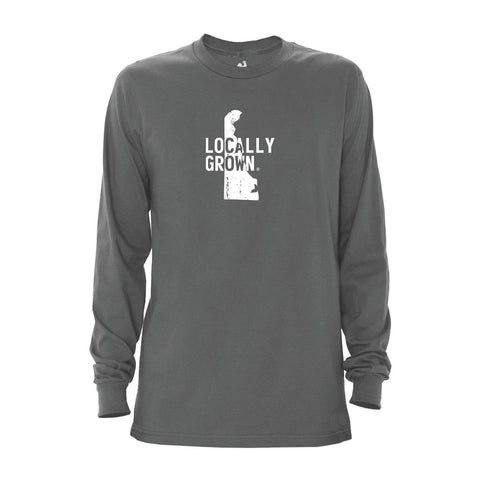 Locally Grown Clothing Co. Men's Delaware Solid State Long Sleeve Crew