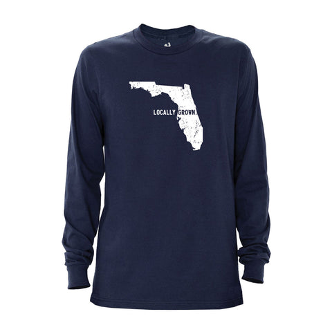 Locally Grown Clothing Co. Men's Florida Solid State Long Sleeve Crew