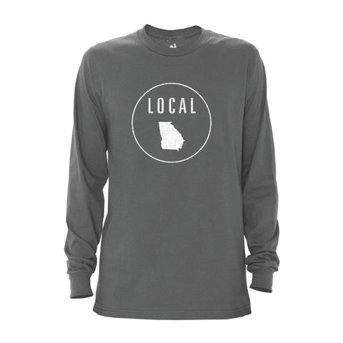 Locally Grown Clothing Co. Men's Georgia Local Long Sleeve Crew