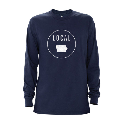 Locally Grown Clothing Co. Men's Iowa Local Long Sleeve Crew