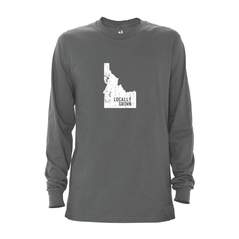Locally Grown Clothing Co. Men's Idaho Solid State Long Sleeve Crew