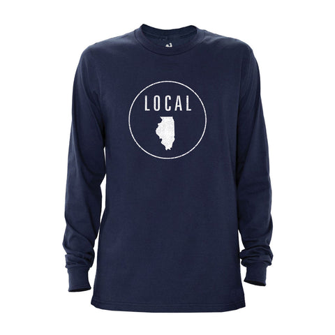 Locally Grown Clothing Co. Men's Illinois Local Long Sleeve Crew