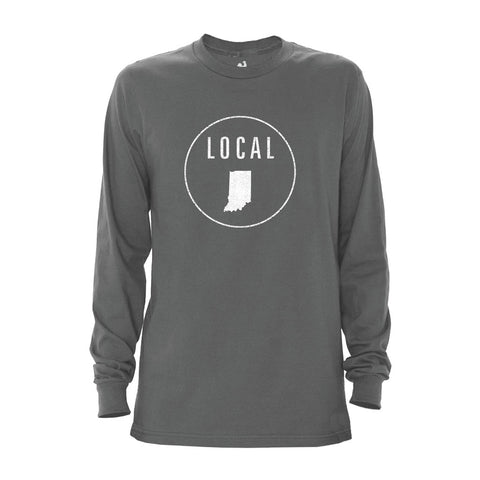 Locally Grown Clothing Co. Men's Indiana Local Long Sleeve Crew