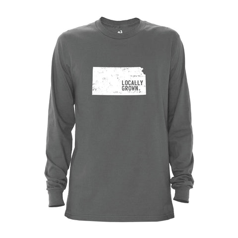Locally Grown Clothing Co. Men's Kansas Solid State Long Sleeve Crew