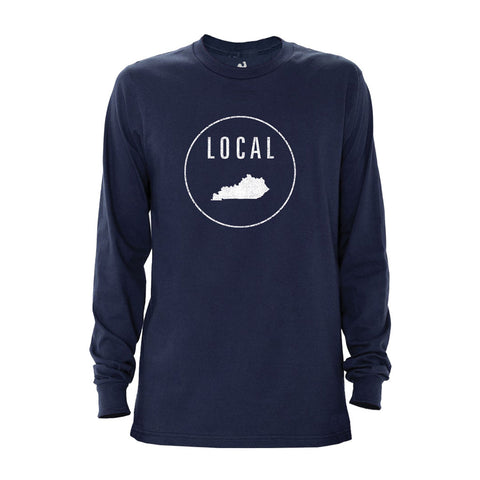 Locally Grown Clothing Co. Men's Kentucky Local Long Sleeve Crew