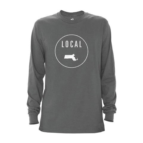 Locally Grown Clothing Co. Men's Massachusetts Local Long Sleeve Crew