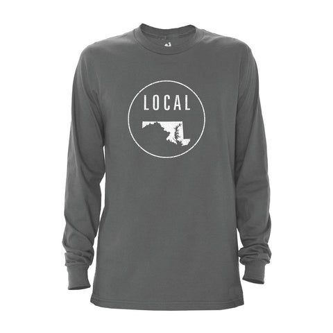 Locally Grown Clothing Co. Men's Maryland Local Long Sleeve Crew