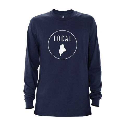 Locally Grown Clothing Co. Men's Maine Local Long Sleeve Crew