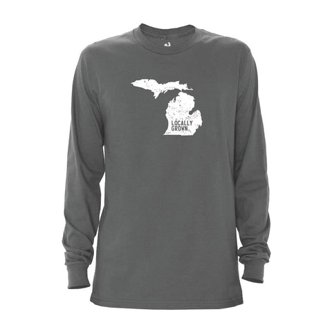 Locally Grown Clothing Co. Men's Michigan Solid State Long Sleeve