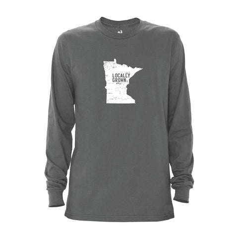 Locally Grown Clothing Co. Men's Minnesota Solid State Long Sleeve