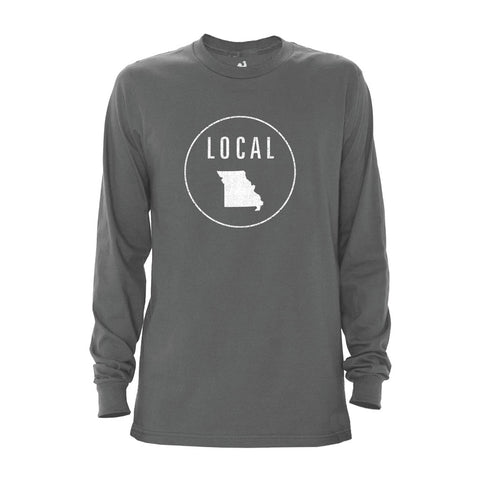 Locally Grown Clothing Co. Men's Missouri Local Long Sleeve Crew
