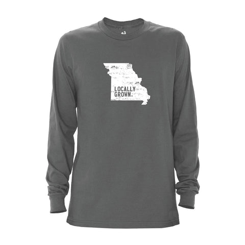 Locally Grown Clothing Co. Men's Missouri Solid State Long Sleeve