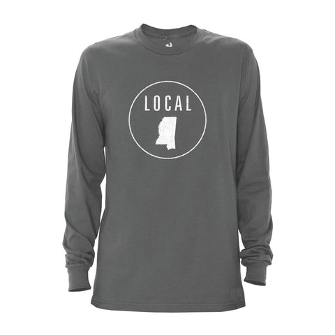 Locally Grown Clothing Co. Men's Mississippi Local Long Sleeve Crew