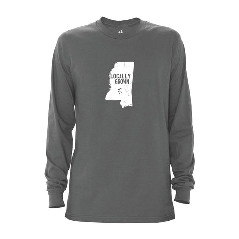 Locally Grown Clothing Co. Men's Mississippi Solid State Long Sleeve