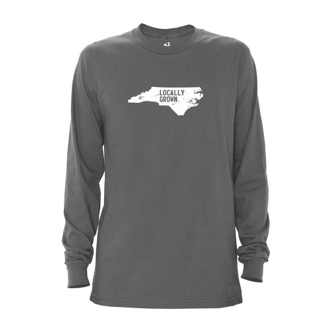 Locally Grown Clothing Co. Men's North Carolina Solid State Long Sleeve