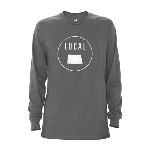 Locally Grown Clothing Co. Men's North Dakota Local Long Sleeve Crew
