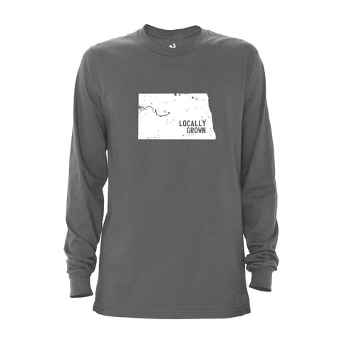 Men's North Dakota Solid State Long Sleeve