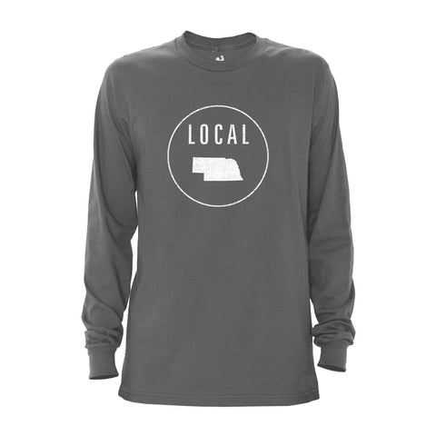 Locally Grown Clothing Co. Men's Nebraska Local Long Sleeve Crew