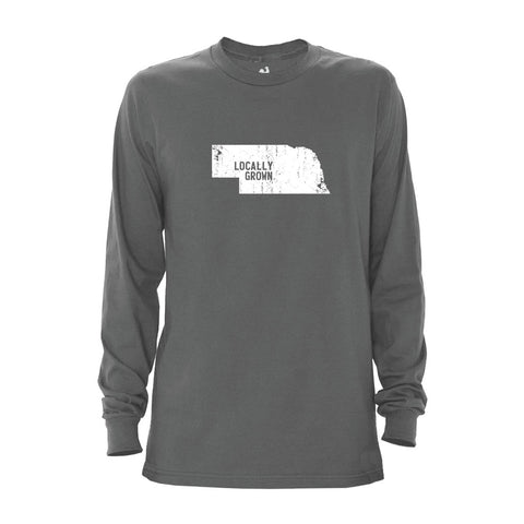Men's Nebraska Solid State Long Sleeve