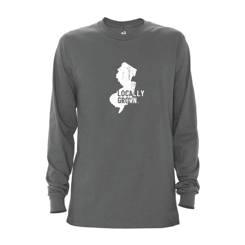 Locally Grown Clothing Co. Men's New Jersey Solid State Long Sleeve