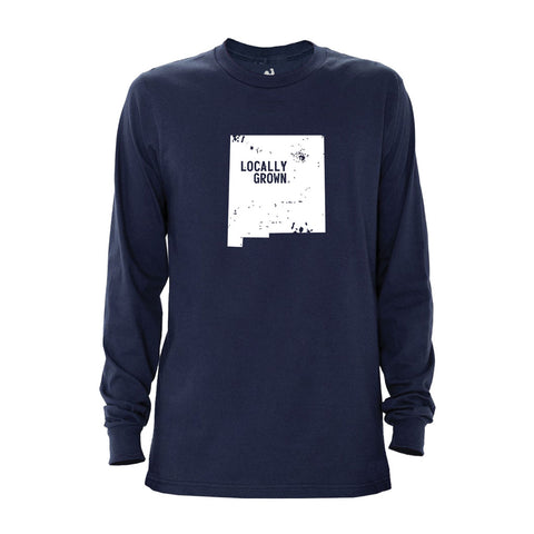 Locally Grown Clothing Co. Men's New Mexico Solid State Long Sleeve