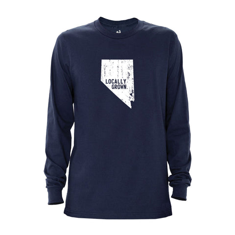 Locally Grown Clothing Co. Men's Nevada Solid State Long Sleeve
