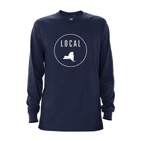Locally Grown Clothing Co. Men's New York Local Long Sleeve Crew