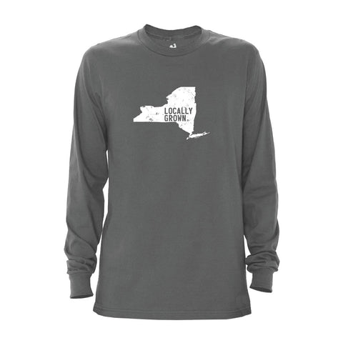 Locally Grown Clothing Co. Men's New York Solid State Long Sleeve