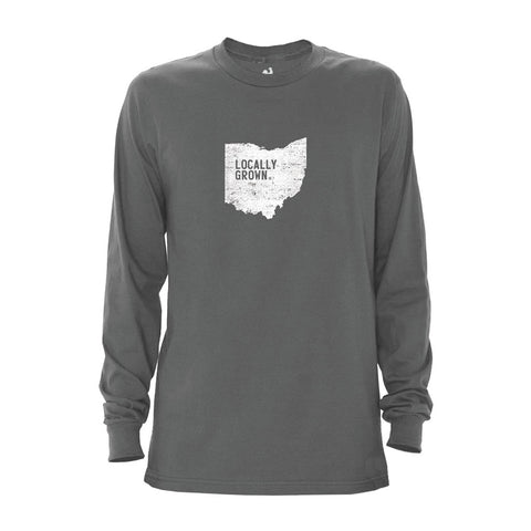 Locally Grown Clothing Co. Men's Ohio Solid State Long Sleeve