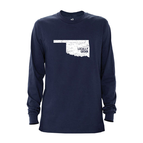 Locally Grown Clothing Co. Men's Oklahoma Solid State Long Sleeve