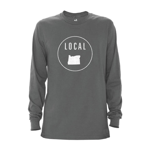 Locally Grown Clothing Co. Men's Oregon Local Long Sleeve Crew