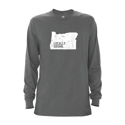 Locally Grown Clothing Co. Men's Oregon Solid State Long Sleeve