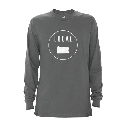 Locally Grown Clothing Co. Men's Pennsylvania Local Long Sleeve Crew