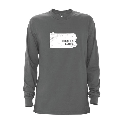 Locally Grown Clothing Co. Men's Pennsylvania Solid State Long Sleeve