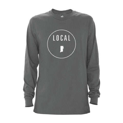 Locally Grown Clothing Co. Men's Rhode Island Local Long Sleeve Crew