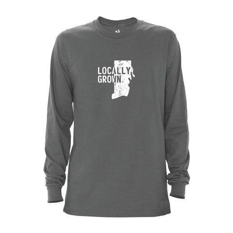 Locally Grown Clothing Co. Men's Rhode Island Solid State Long Sleeve