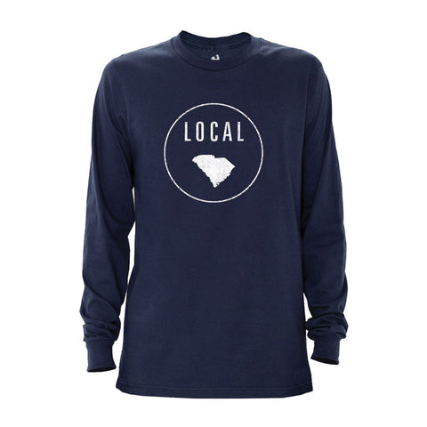 Locally Grown Clothing Co. Men's South Carolina Local Long Sleeve Crew