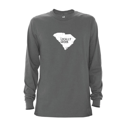 Locally Grown Clothing Co. Men's South Carolina Solid State Long Sleeve