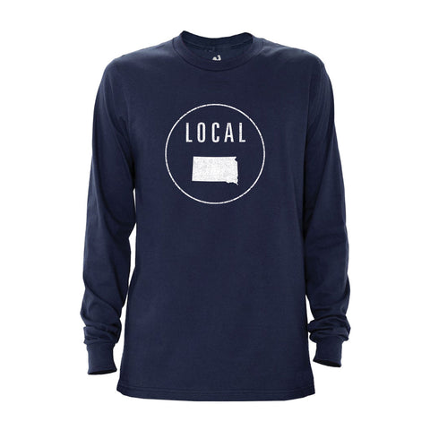 Locally Grown Clothing Co. Men's South Dakota Local Long Sleeve Crew