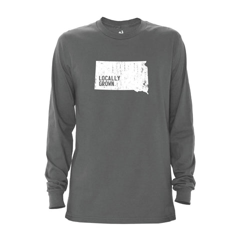 Locally Grown Clothing Co. Men's South Dakota Solid State Long Sleeve