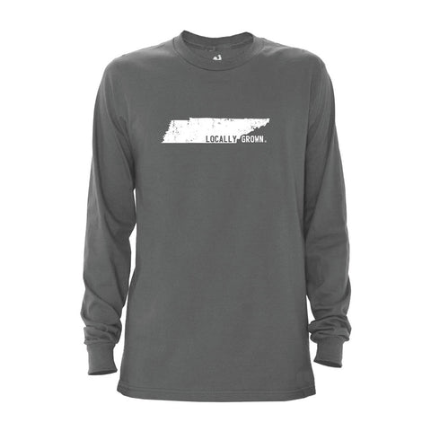 Locally Grown Clothing Co. Men's Tennessee Solid State Long Sleeve