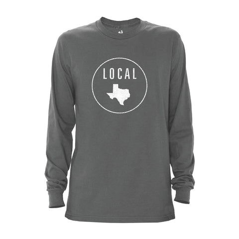 Locally Grown Clothing Co. Men's Texas Local Long Sleeve Crew