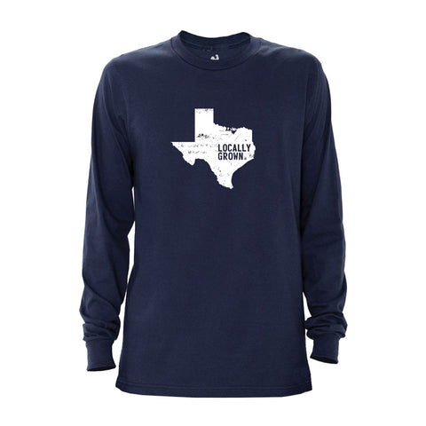 Locally Grown Clothing Co. Men's Texas Solid State Long Sleeve