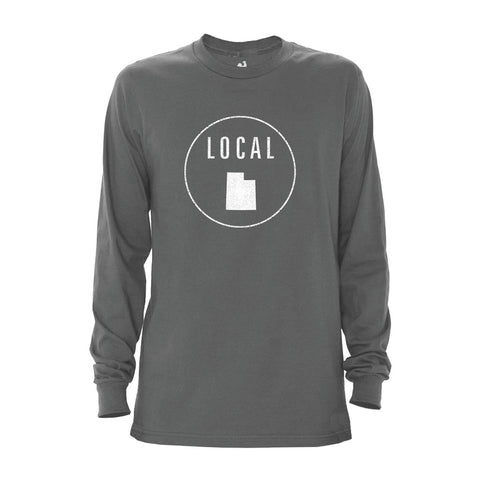 Locally Grown Clothing Co. Men's Utah Local Long Sleeve Crew