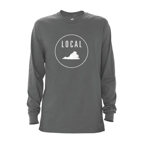 Locally Grown Clothing Co. Men's Virginia Local Long Sleeve Crew