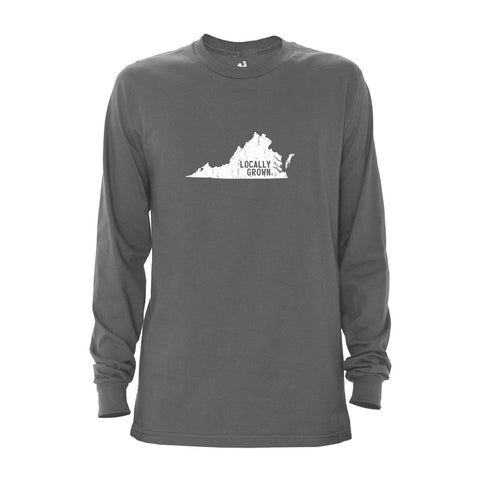 Locally Grown Clothing Co. Men's Virginia Solid State Long Sleeve